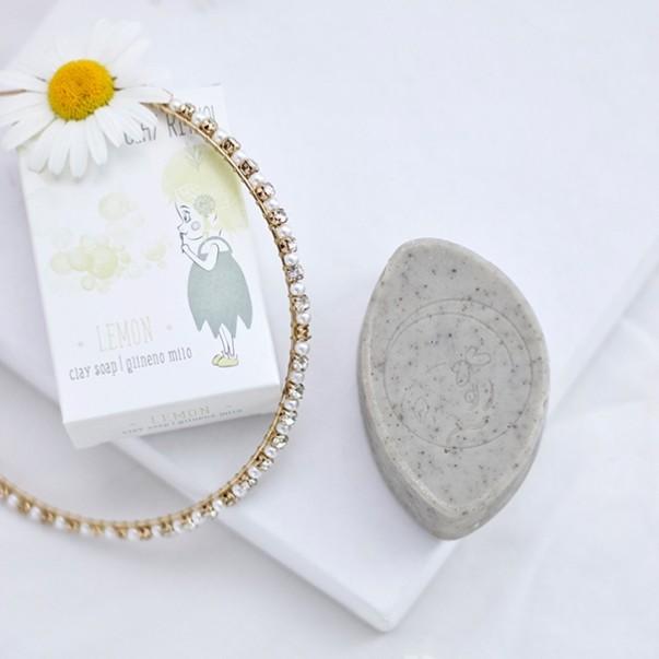 GlinaSi clay soap Lemon