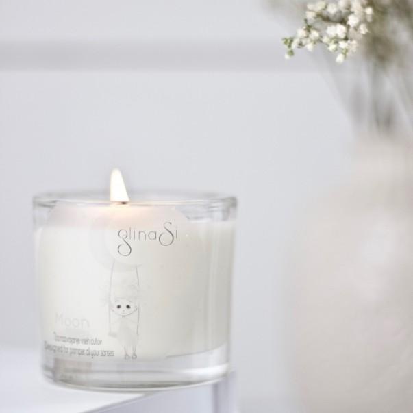 GlinaSi Clay massage candle Moon
