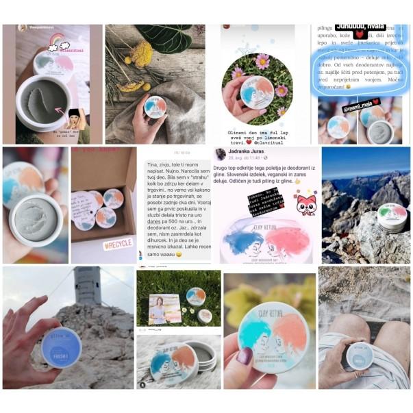 GlinaSi deodorant cream Fresh Sensitive