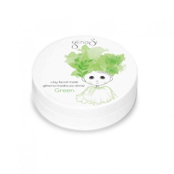 GlinaSi facial mask GREEN